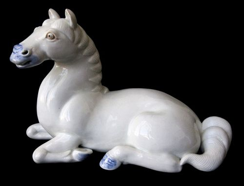 Antique Japanese Hirado Ware Porcelain Horse