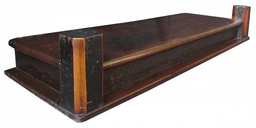 Antique Japanese Keyaki Hardwood Shelf