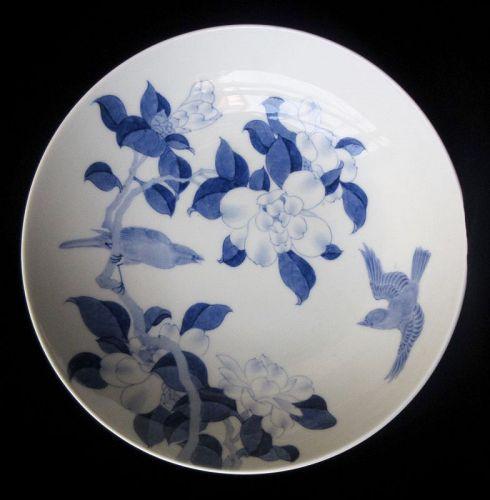 Antique Japanese Nabeshima Dish with Birds