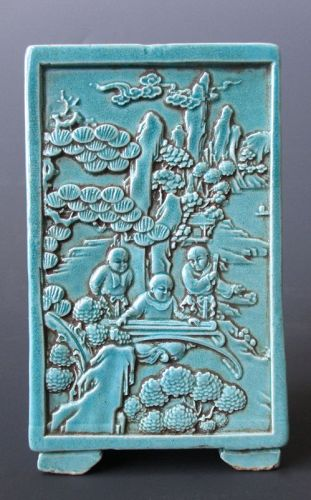Chinese Blue Monochrome Porcelain Square Container