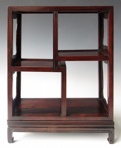Chinese Antique Small Hardwood Display Shelf