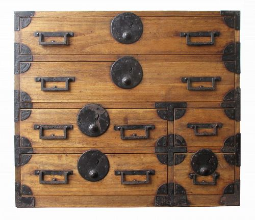 Japanese Antique Small Kiri Ko Tansu - Japanese, Furniture From The Zentner Collection Of Antique Asian Art
