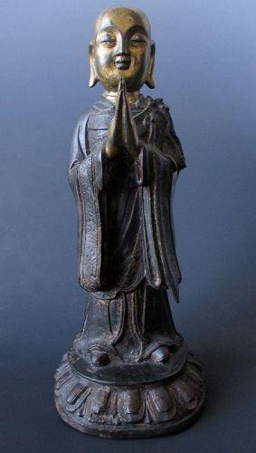 Ming Dynasty Bronze Figure of Ananda