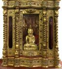 Large Burmese Teak Buddha Shrine Hpaya Khan Cabinet