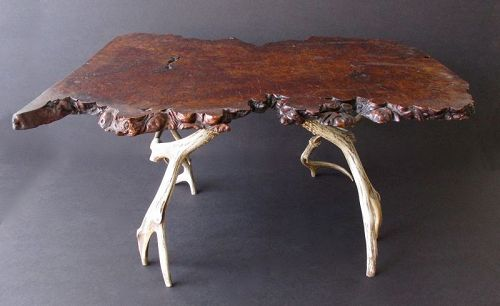 Japanese Antique Root and Antler Low Table