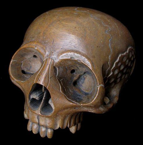Japanese Skull Mokugyo Buddhist Temple Bell