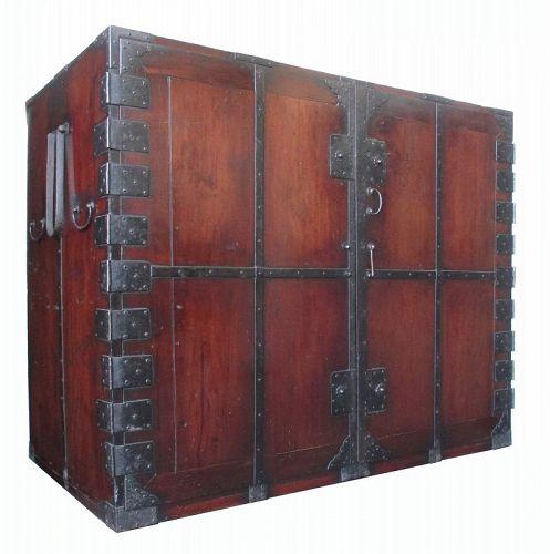 Rare Large Edo Period Japanese Kannon Biraki Tansu