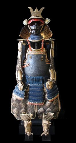 18th Century Japanese Namban Gold Lacquer Samurai Armor