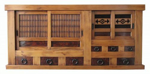 Japanese Antique Single Section Mizuya (Kitchen Tansu)