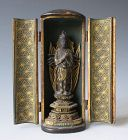 Japanese Small Antique Zushi with Bodhisattva