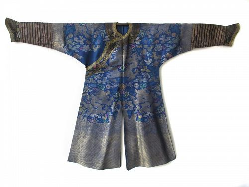 Chinese Antique Dragon Robe, Ching Dynasty