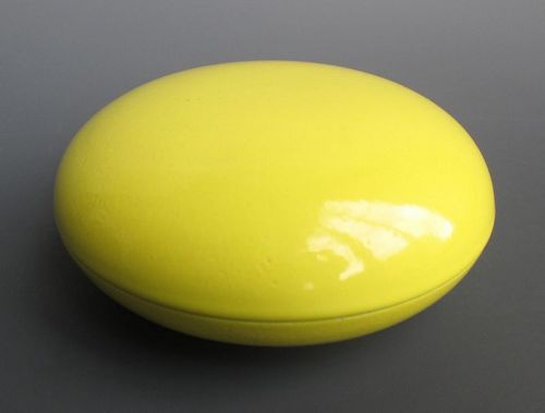 Chinese Yellow Glaze Monochrome Porcelain Seal Paste Box