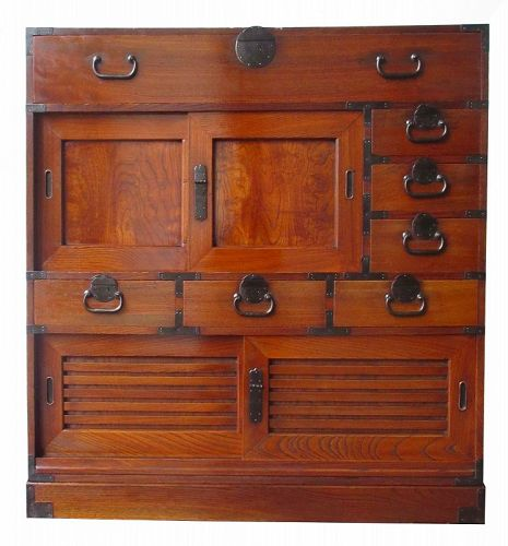 Antique Japanese Keyaki Choba Tansu - Japanese, Furniture From The Zentner Collection Of Antique Asian Art