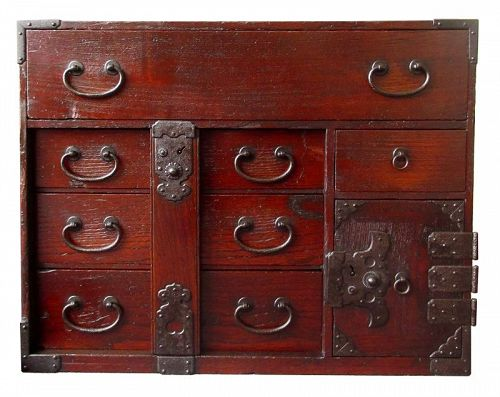 Antique Japanese Lock Bar Tansu