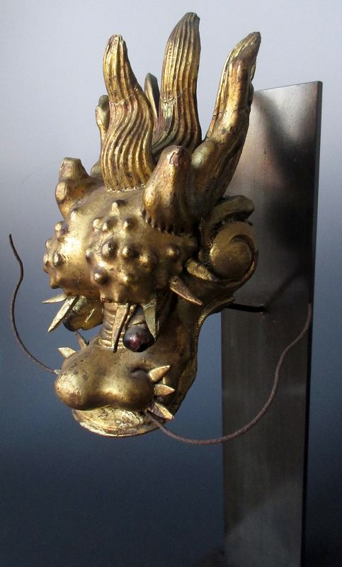 Antique Japanese Meadate Gilt Dragon