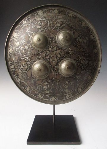 Indian Damascened Hand Shield