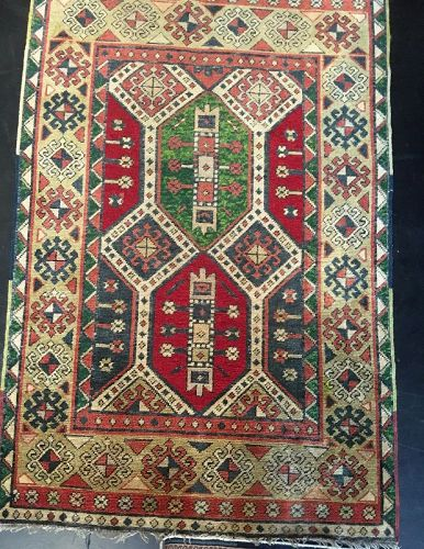 Antique Hand-Woven Turkish Kars Rug