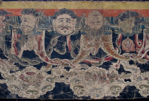 Antique Nepalese Buddhist Ceremonial Thangka Fragment