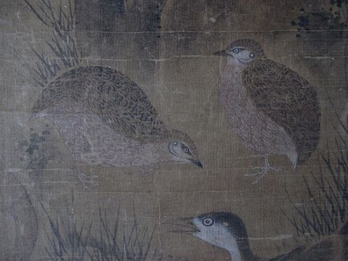 Chinese Ming Dynasty Scroll Painting of Birds