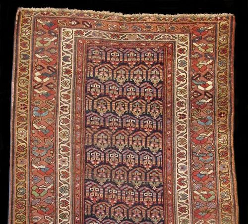 Antique Hand-Woven Persian Malayer Runner Rug