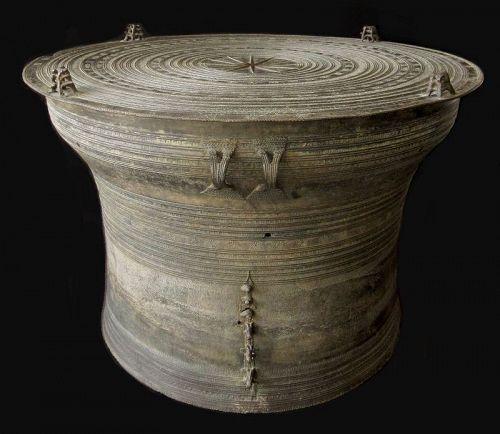 Luang Prabang Period Laos Bronze Rain Drum