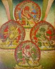 18th C. Tibetan Buddhist Tsakli Miniature Painting of Dharmapalas