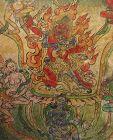 18th C. Tibetan Buddhist Tsakli Miniature Painting of Red Mahakala