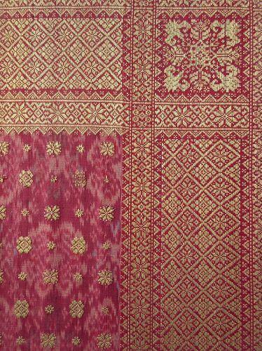 Antique Malaysian Palembang Songket Head Cloth