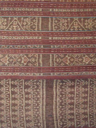 Indonesian Framed Ikat Sarong Woman's Skirt from Lembata Island