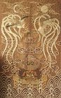 Imperial Japanese Tokugawa Rope Embroidery on Silk of Two Phoenixes