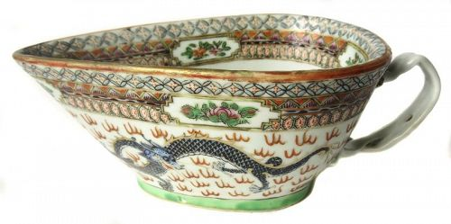 Antique Chinese Porcelain Vessel with Dragons