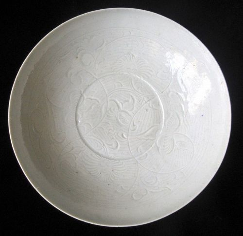 Antique Chinese Qingbai Lotus Dish