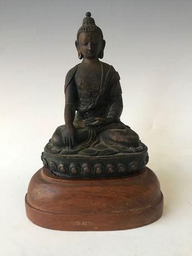19th Century Sino Tibetan Seated Buddha