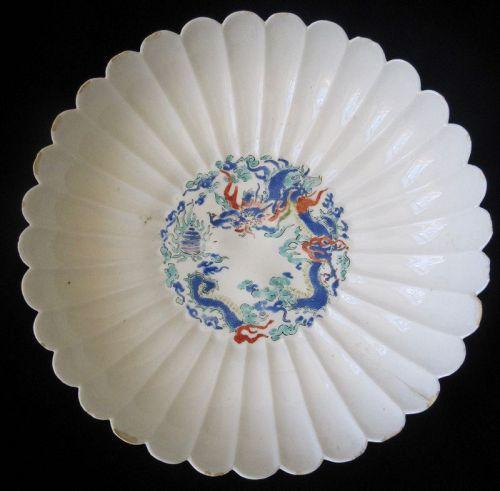 Antique Japanese Kakiemon Dragon Dish