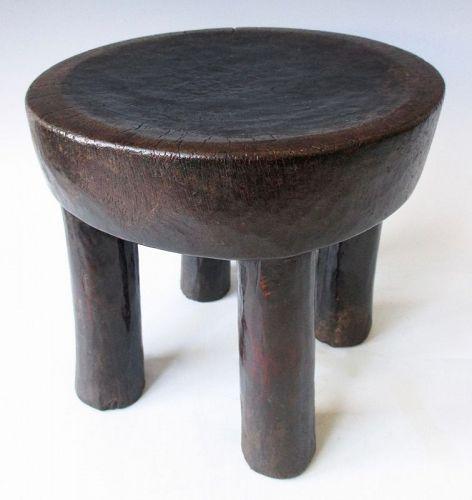 Antique Lobi Tribal Wooden Stool
