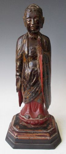 Antique Vietnamese Lacquered Buddha
