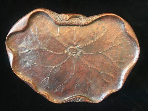 Japanese Wood Lotus Leaf Tray