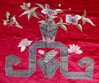 Antique Chinese Silk Embroidered Throne Cover