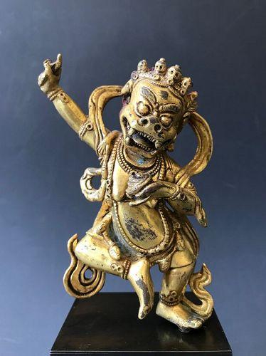 Sino-Tibetan Gilt Bronze Heruka