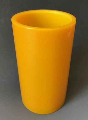 Golden Yellow Antique Chinese Peking Brush Pot