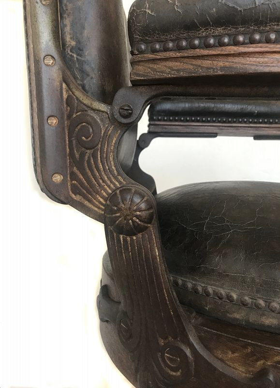 Rare Antique Japanese Barber Chair