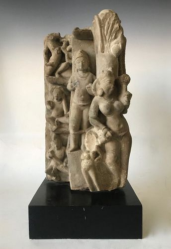 Ancient India Stone Sculpture Doorway Fret