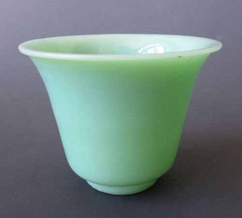 Chinese Antique Celadon Colored Peking Glass Cup