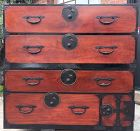 Japanese Antique 2-Section Nihon Matsu Isho Tansu
