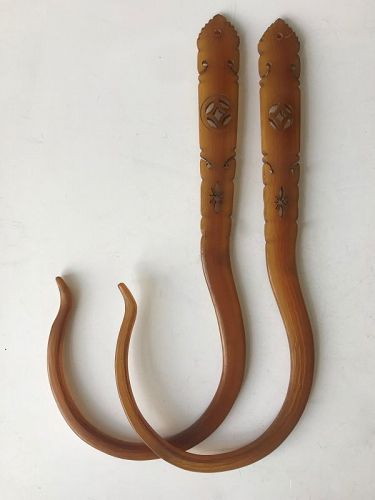 Antique Chinese Horn Hooks