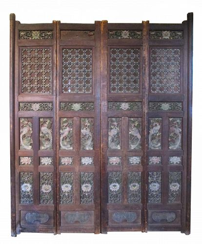 Antique 18th Century Japanese Temple Doors