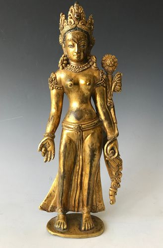 Antique Bronze Nepalo-Tibetan White Tara