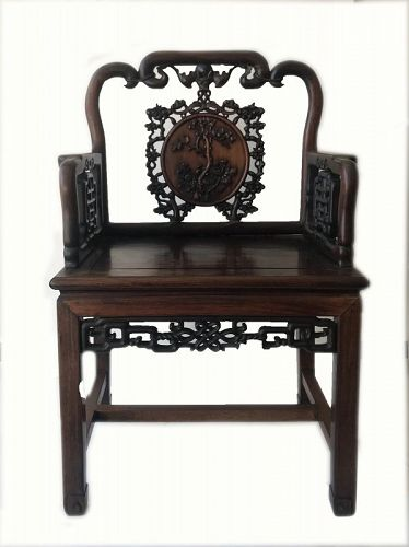 Antique Chinese Hardwood Chair
