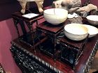 Antique Chinese Carved Set of Nesting Stands