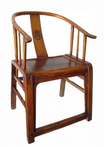 Chinese Antique Jumu Wood Arm Chair